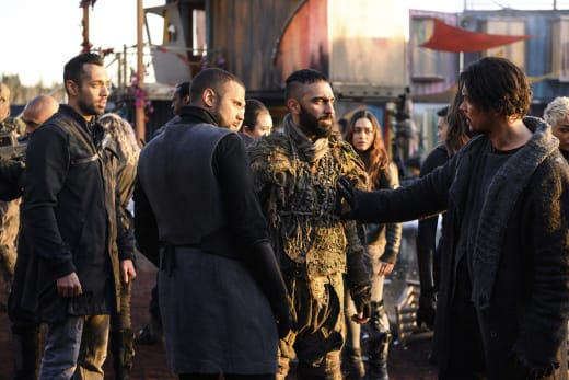 Nelson and The Other Men in Sanctum - The 100