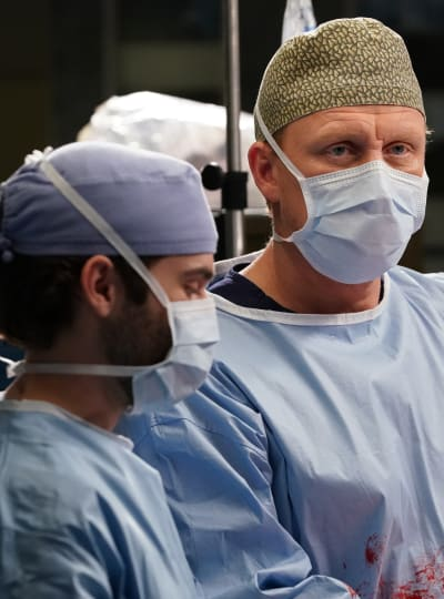 Owen and Levi In Surgery - Tall  - Grey's Anatomy Season 16 Episode 17