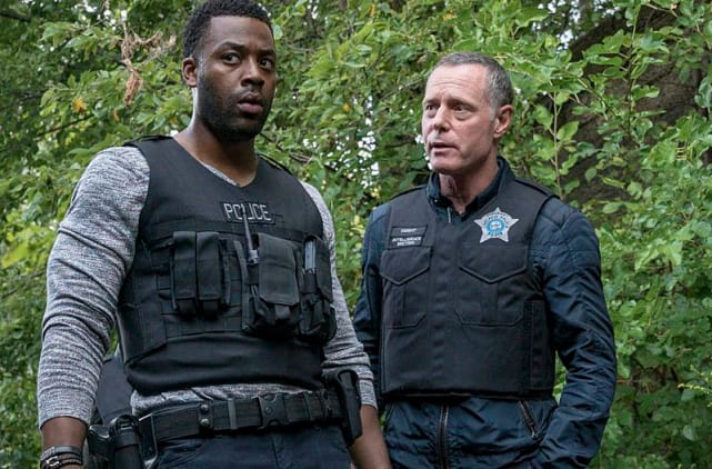 Voight caring for Atwater on Chicago PD