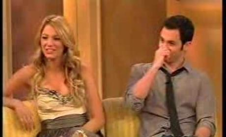 Blake Lively, Penn Badgley on The View