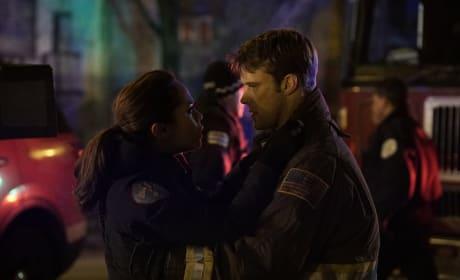 Casey And Dawson Share A Moment - Chicago Fire Season 5 Episode 12