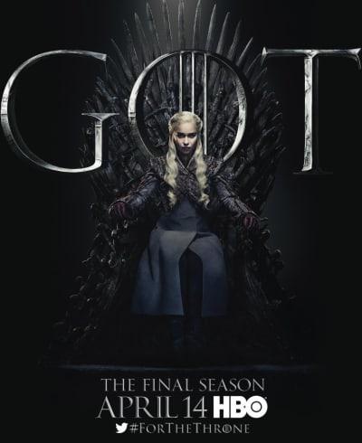 Daenerys on the Iron Throne - Game of Thrones