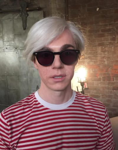 Evan Peters as Andy Warhol - American Horror Story