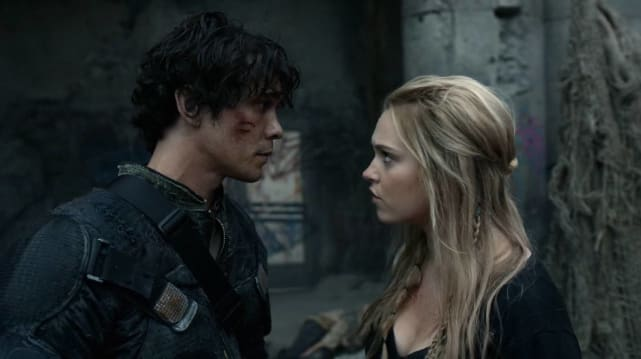 Clark and bellamy the 100