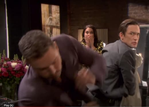 Philip and Brady Come to Blows - Days of Our Lives