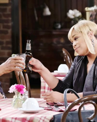 Sheila Toasts to Abe - Days of Our Lives