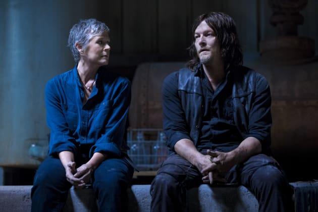 Carol and Pookie - The Walking Dead Season 9 Episode 1