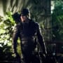 Green Arrow With A Green Background Season 6 Episode 11