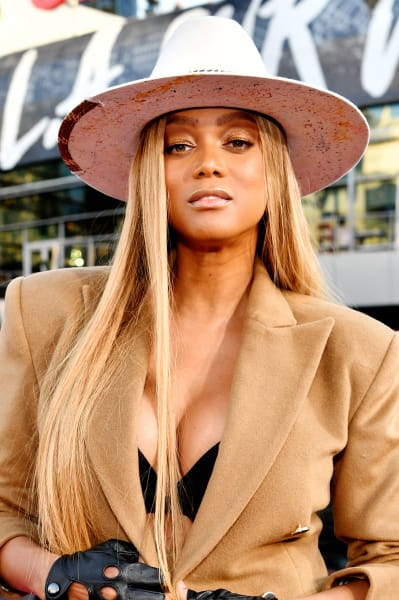 Tyra Banks Attends AMAs