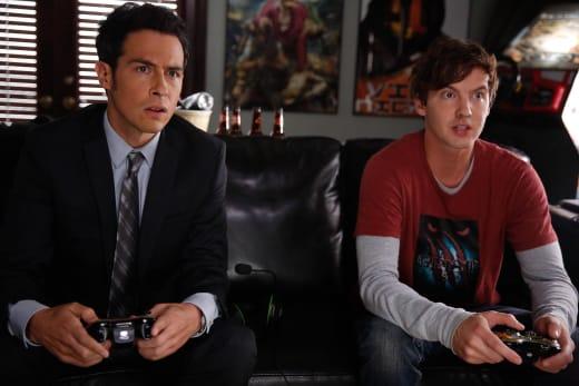 James Aubrey and a Gaming Designer  - Bones Season 10 Episode 4