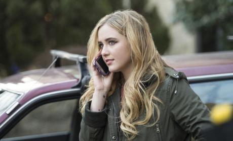 Claire takes a phone call - Supernatural Season 12 Episode 16