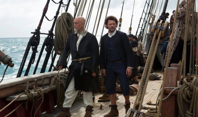 Blackbeard and Tom Lowe (Crossbones - NBC)
