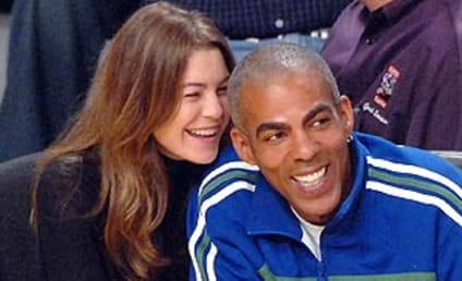 Ellen Pompeo, Chris Ivery Hang, Courtside