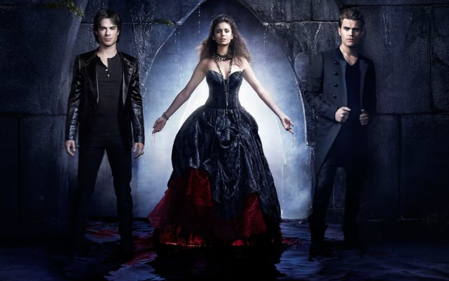 Elena, Damon and Stefan (The Vampire Diaries)