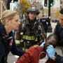 Mills and Brett tend to a victim - Chicago Fire Season 3 Episode 9