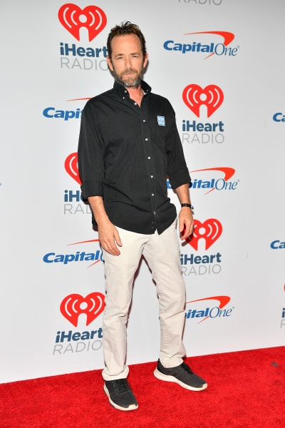 Luke Perry Attends iHeartRadio Music Festival Event