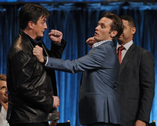 Nathan Fillion and Seamus Dever at PaleyFest