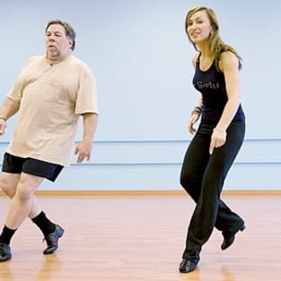 Karina Smirnoff and Steve Wozniak Rehearsal