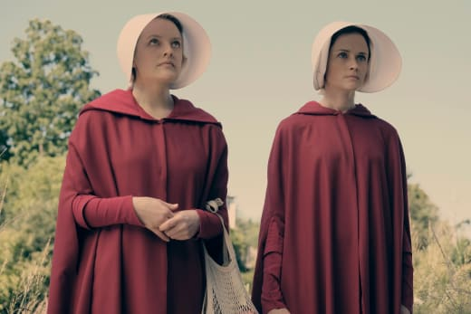 Offred and Ofglen Go Shopping - The Handmaid's Tale