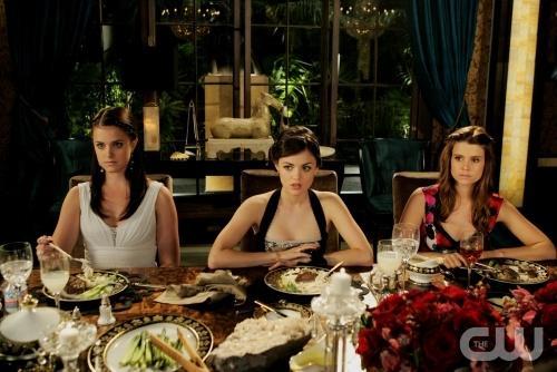Sage, Rose and Megan at Dinner