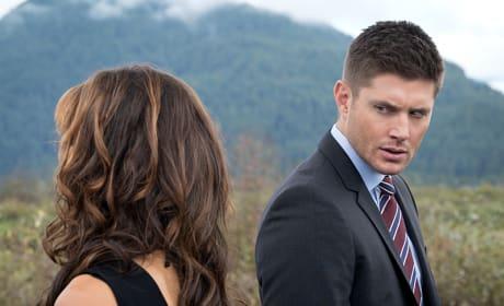 Dean giving the ultimate stare - Supernatural Season 11 Episode 9