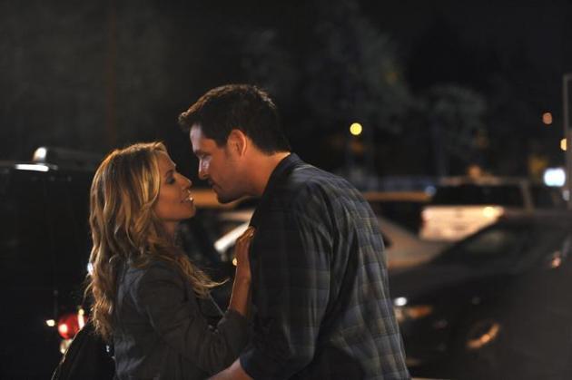 Grayson Kisses Sara