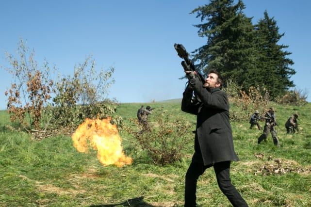 Tom Fires Into the Sky