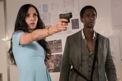 Scottie Has a Gun - The Blacklist Redemption Season 1 Episode 8 - The Blacklist: Redemption