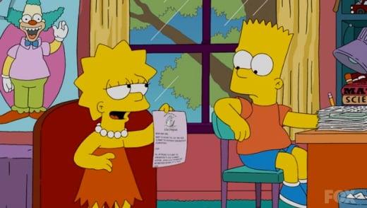 Lisa Catches Bart