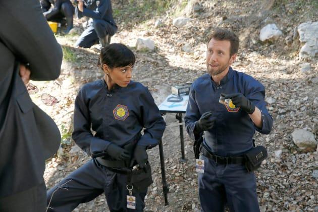 Cam and Hodgins - Bones Season 10 Episode 17