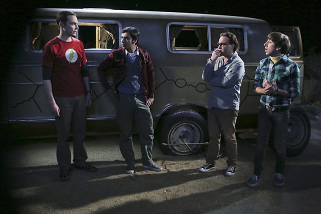 The flat tire incident the big bang theory