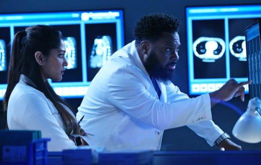 AJ Mentors Leela  - The Resident Season 4 Episode 13