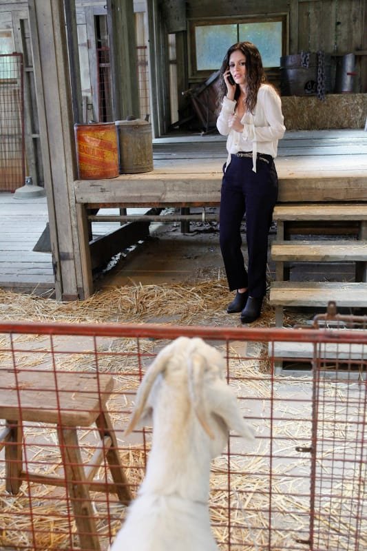 Zoe and a Goat