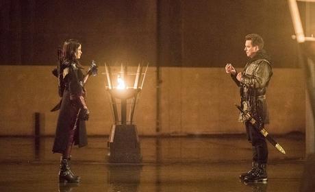 Nyssa v Malcolm - Arrow Season 4 Episode 13