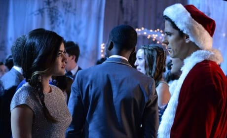 Aria and Santa - Pretty Little Liars Season 5 Episode 13