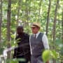 Red and Dembe hang out in the woods - The Blacklist Season 4 Episode 4