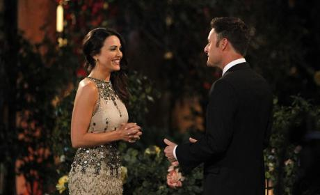 Andi Dorfman and Chris Harrison