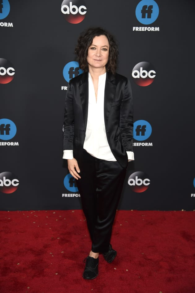 Sara Gilbert Attends ABC Upfront