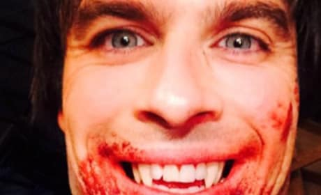 Ian Somerhalder Posts Bloody Damon Pic