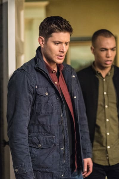 Dean and Max look down - Supernatural Season 12 Episode 20