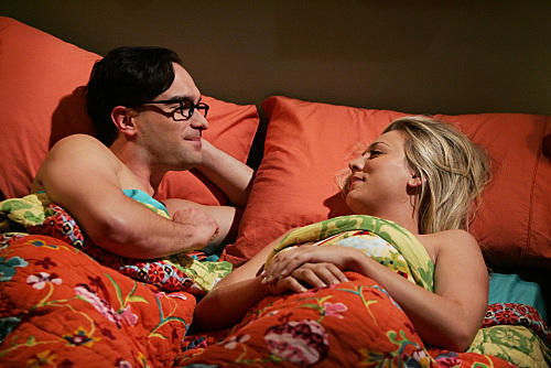 Leonard and Penny in Bed