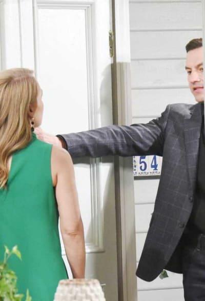 Jen Spills Secrets to Stefan - Days of Our Lives
