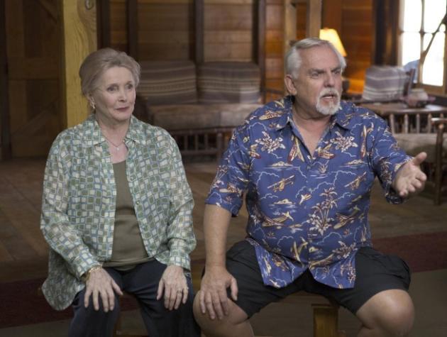 John Ratzenberger and Millicent Martin on Bones