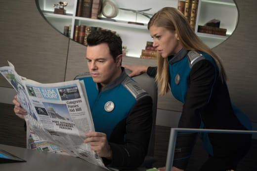 Reading a Newspaper - The Orville