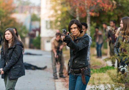 Maggie arrives - The Walking Dead Season 7 Episode 16
