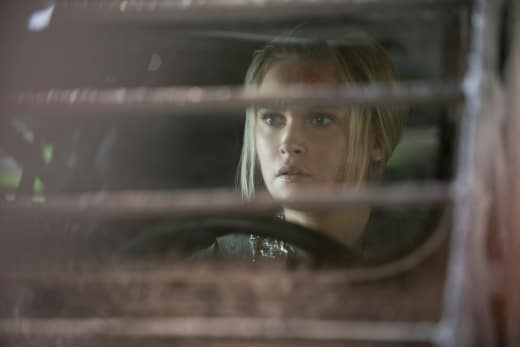 Clarke in the rover - The 100
