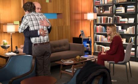 Shaun gives Aaron a hug - The Good Doctor Season 1 Episode 18
