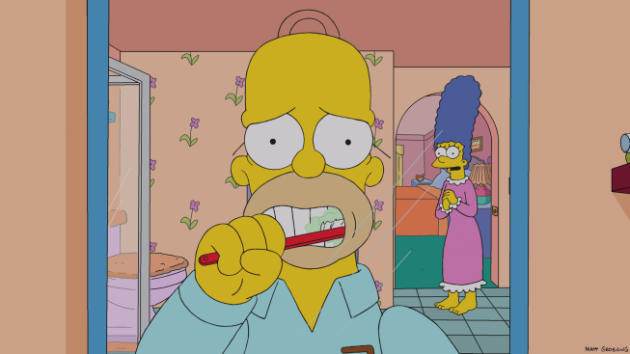 Homer Brushing