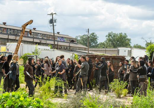 Rick and company are surroudned - The Walking Dead Season 7 Episode 10