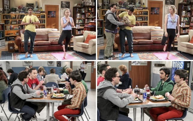 The living arrangement the big bang theory